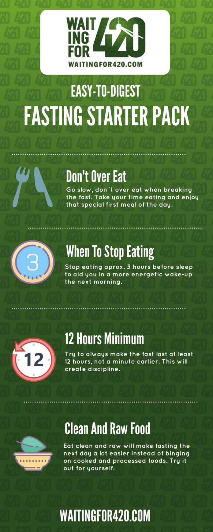 Infographic of intermittent Fasting tips