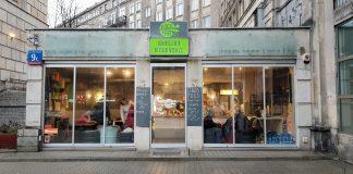 Exterior of the vegan restaurant Burgery Weganskie