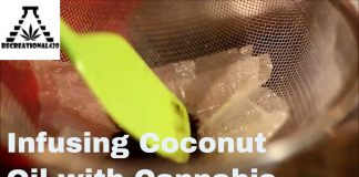 Coconut oil infussed with cannabis