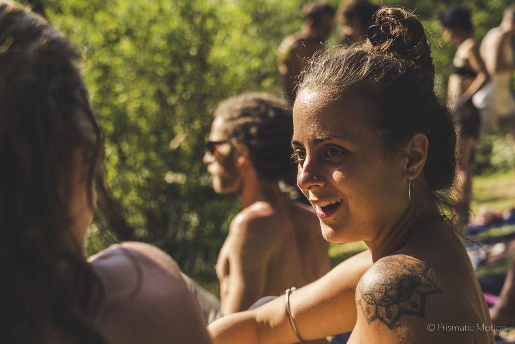 Girl smiling at Modem fesival