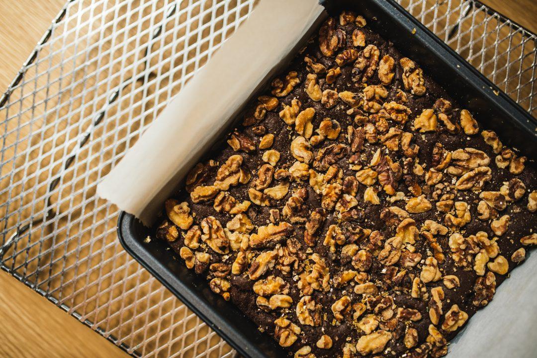 Dark Chocolate And Peanut Butter Brownie (Vegan/Gluten-Free)
